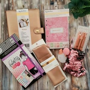 Recollections Rosegold Binder Bundle Stickers